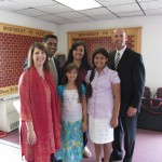 Pastor Tom with Dr. Chelli and family Missionaries to India June 2012