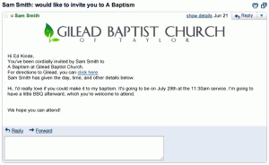 You're invited to a Baptism