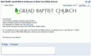 You're invited to Real Cool Bible School