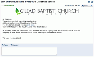You're invited to Christmas Service