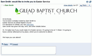 You're invited to Easter Service