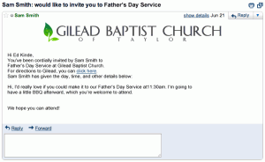You're invited to Father's Day Service